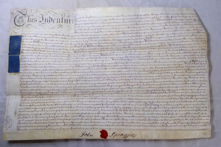 Antique 1779 Leather Vellum Parchment with Wax Seals John Spragging - The Collectors Bag