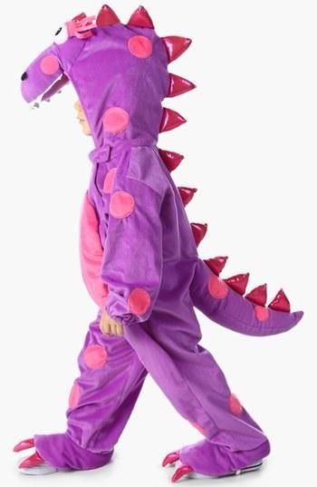 Purple dragon dinosaur halloween costume for toddlers