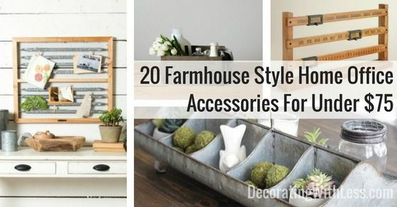 I'm working on a home office makeover. The last step is finding farmhouse style home office accessories to fit the space & style. Here's a list of my favorite farmhouse style home office accessories that fit a shoestring budget.