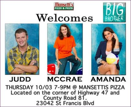 'Big Brother 15' Amanda, McCrae and Judd draw crowds of fans at pizza joint (Video)