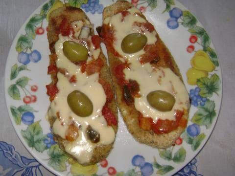 Fabulosa receta para Milanesas de berenjenas a la napolitana . Fácil, rápidas y exquisitas milanesas de berenjenas al horno. Ahh y muy sanas :)