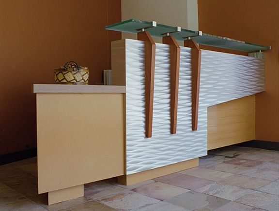 high tech reception desk - Reception Desks