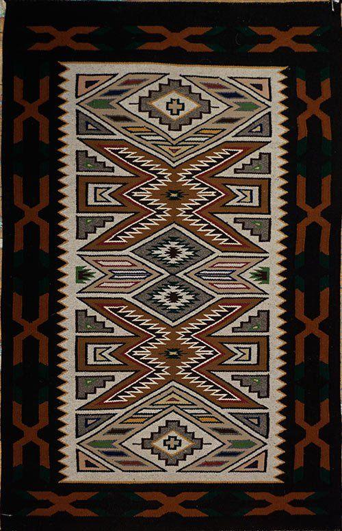 1980's Teec Nos Pos Weaving by Notah Dineh Iren Littleben