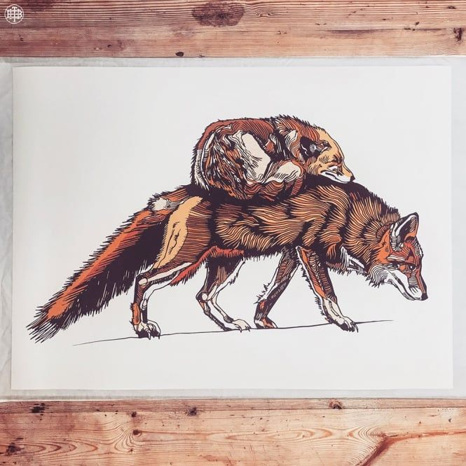 Foxeses - A2 Limited Edition Print