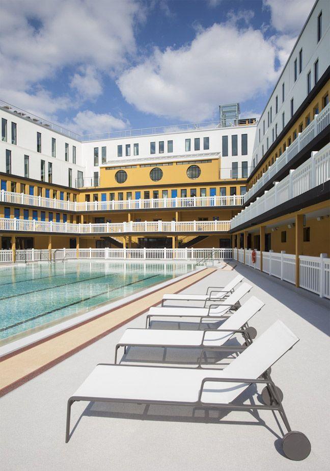 Art deco-zwembad wordt luxehotel in Parijs