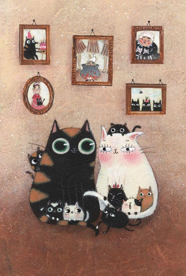 Le chat de la mère Michel by Maddalena Gerli, via Behance