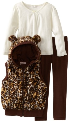Amazon.com: Little Lass Girls 2-6X 3 Piece Legging Set With Cheetah Print: Clothing