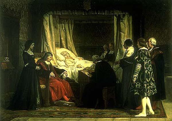 Doña Isabel la Católica dictando su testamento, de Eduardo Rosales.