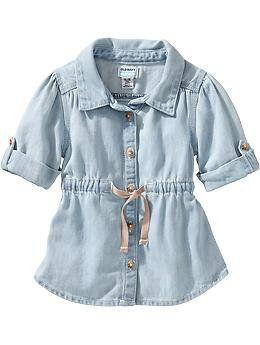 Light-Wash Denim Tunics for Baby on Wanelo
