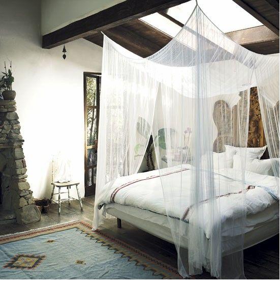 Light, bohemian bedroom.