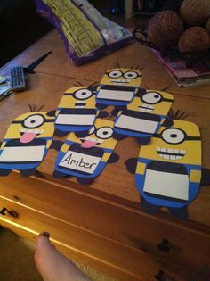Some of my Despicable Me minion RA door decorations for next year.
