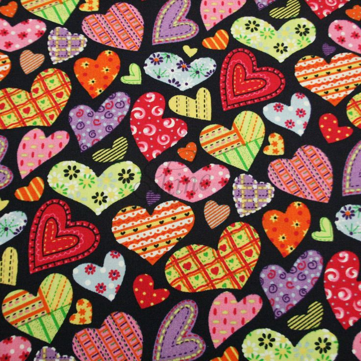 Sweet Heart Cottage Print Cotton | Shine Trimmings & Fabrics