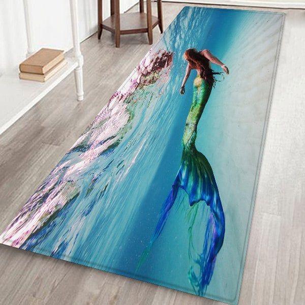 Underwater Mermaid Floor Mat Carpet Rugs On Carpet Floor Rugs Floor Patterns