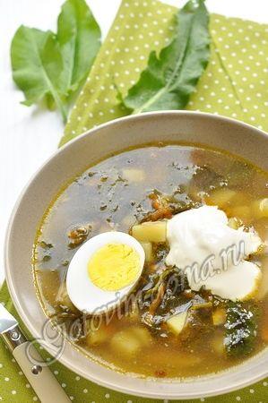 Рецепт: Щавелевый суп