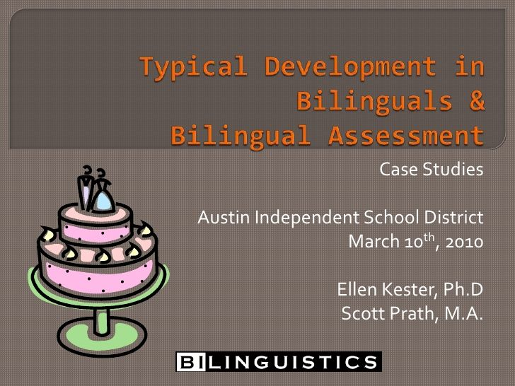 Case Studies of Bilingual Communication Impairment - Participants will: describe the role of language surveys and formal language tests in our assessment process, describe the influence of second language on speech and language performance, develop assessment plans for bilingual student, classify errors as developmental, influenced or atypical, and apply clinical judgment to determination of eligibility for special education services.