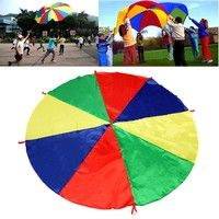 This Rainbow Parachute is 2 meters in diameter, allowing at least 8 people to play together, it's th