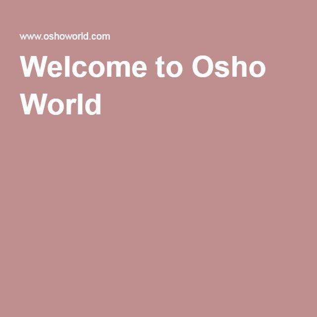 Welcome to Osho World