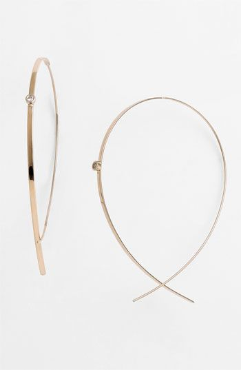 Lana Jewelry 'Large Upside Down' Diamond Hoop Earrings available at #Nordstrom
