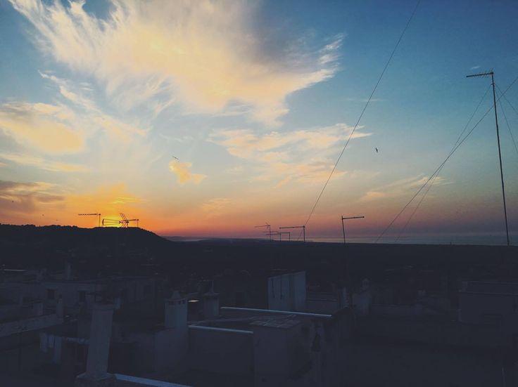 Sunset in #Ostuni #Italy