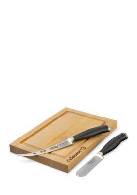 Calphalon  Cutlery 3-Piece Cheese Knife & Board Set - Tan - One Size