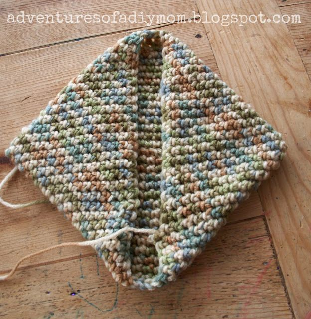 How to Crochet a Hotpad - Super easy version!  Adventures of a DIY Mom