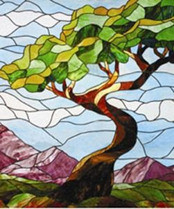 146 Best Images About Stained Glass Landscapes On Pinterest Trees Lakes And Landscapes
