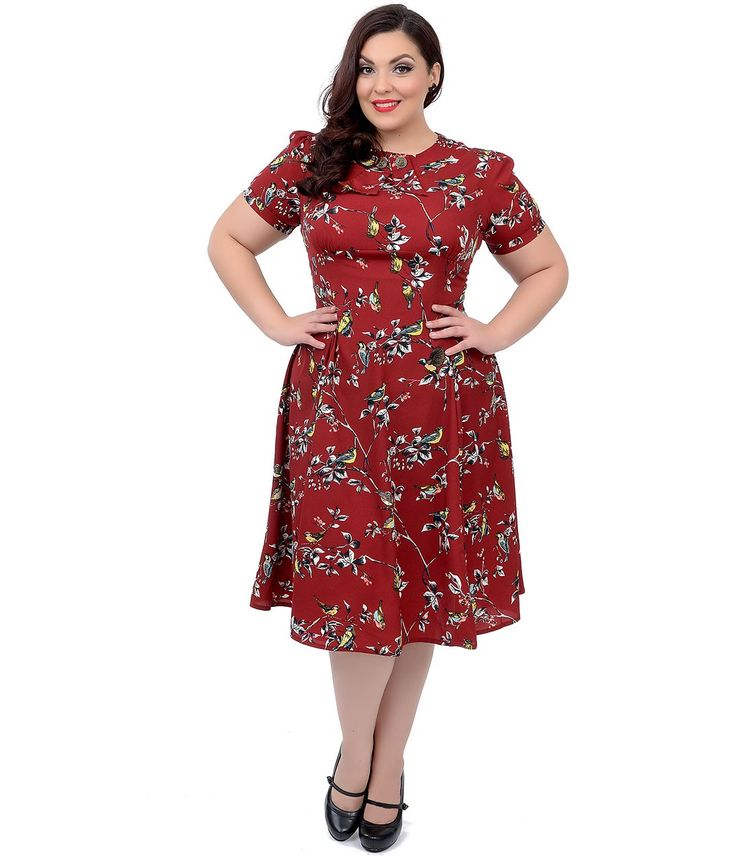 red swing dress plus size plus size hell bunny 1950s style carmine red birdy swing