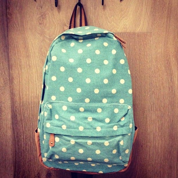 Cutest backpacks coming your way #sneakpeek #backpack #school #bag #dots #cute #love #fall #accessories