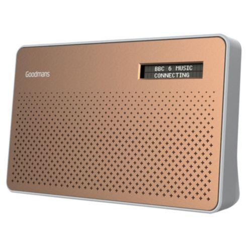 Goodmans Canvas DAB Radio copper. £29.99.