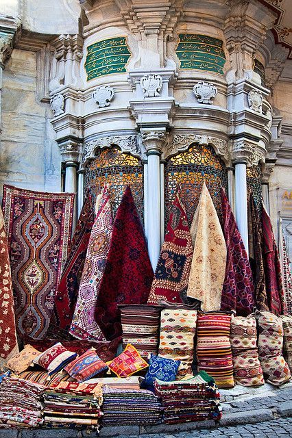 Grand Bazaar Istanbul, Turkish Kilims, Cushions and authentic fabrics.. www.grandbazaarshoppin.com
