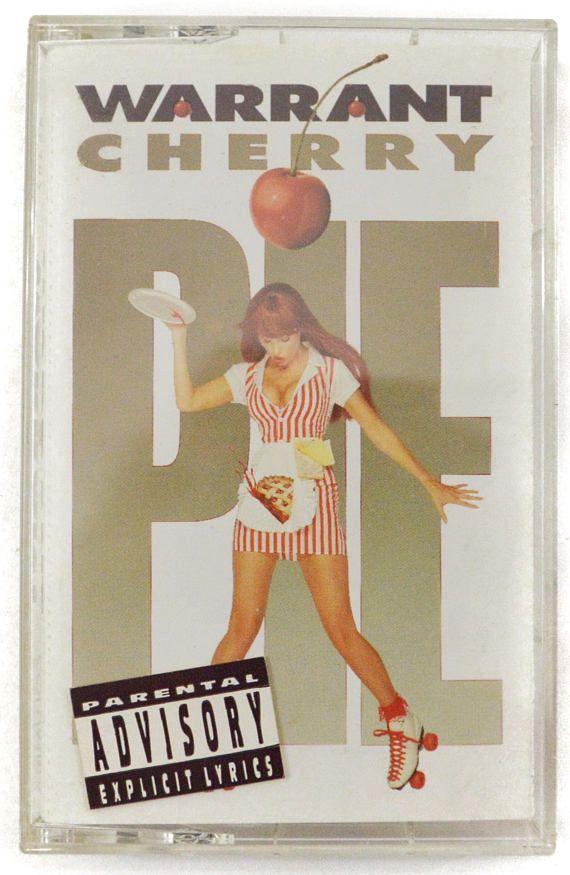 Vintage 90s Warrant Cherry Pie Glam Hair Metal Album Cassette