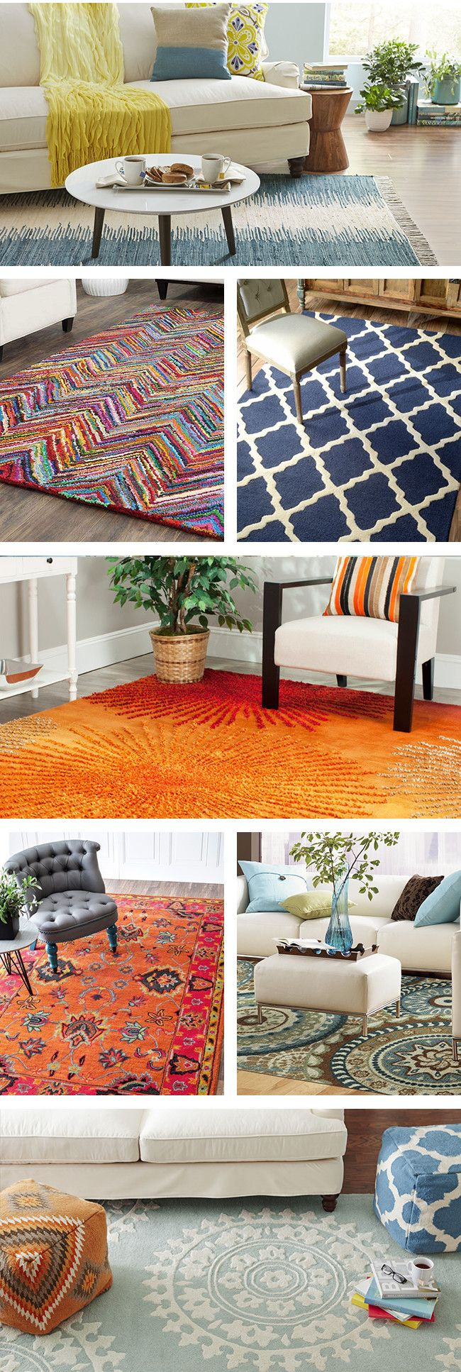 From the entryway to the bedroom, area rugs can complete the look of a room, set the tone, and add an extra layer of comfort—or all three! Visit Wayfair and sign up today to get access to exclusive deals everyday up to 70% off. Free shipping on all orders over $49.