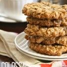 peanut butter chocolate oat cookies {a.k.a colossal cookies}