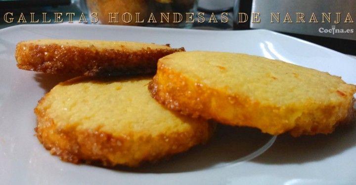 Galletas holandesas de naranja