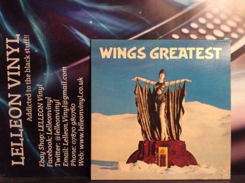 Wings Greatest LP Albums Vinyl Pop EMI PCTC256 1970's + poster Paul McCartney Music:Records:Albums/ LPs:Pop:1970s