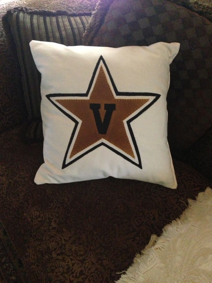 Vanderbilt throw pillow for football themed room
