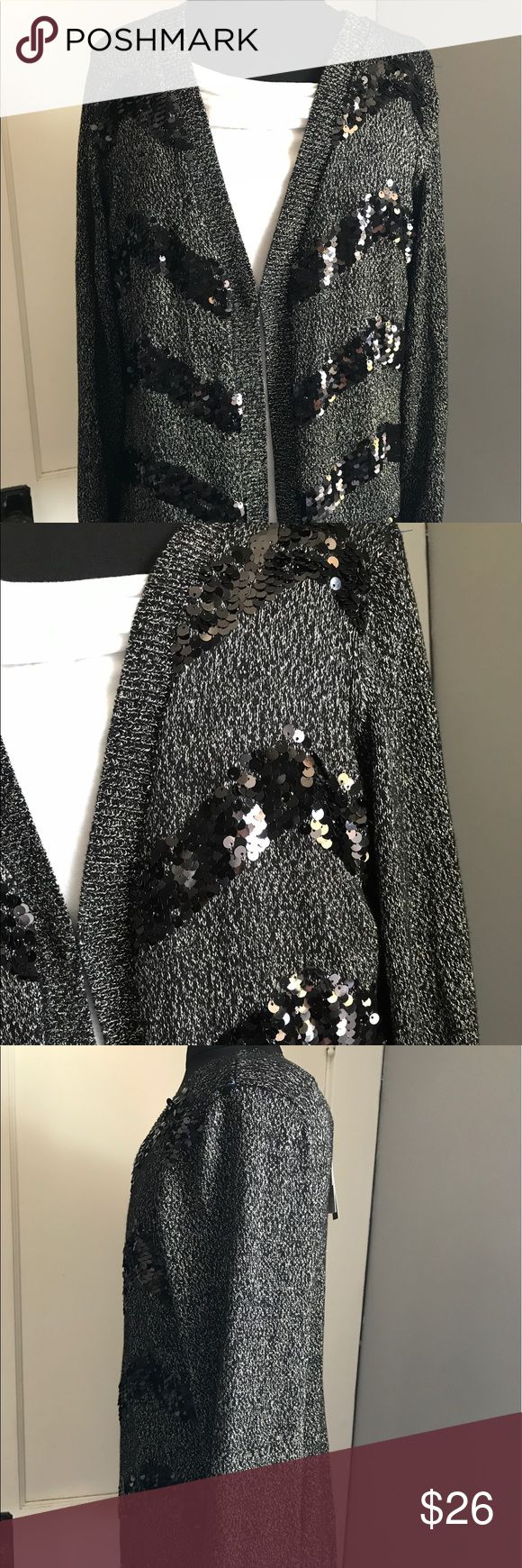 NWT Dana buchman grey sequins cardigan medium Brand new with the tag  Size medium  Sequins cardigan  With silver statement that's looks fancy Dana Buchman Sweaters Cardigans