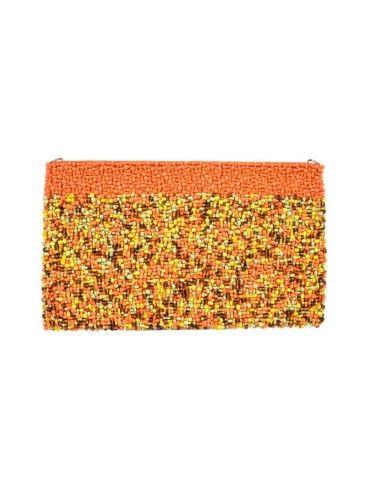 BORRO Multi Orange Clutch