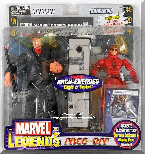 Includes Kingpin & Daredevil figures with all accessories. Brand new factory sealed. Rare Variant Edition unmasked Daredevil, Angry Kingpin in Black suit.