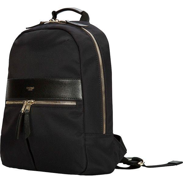 KNOMO Mayfair Nylon Mini Beauchamp Backpack - Black - Backpack... (38.430 HUF) ❤ liked on Polyvore featuring bags, backpacks, black, nylon backpack, stitch bag, tablet backpack, knomo backpack and mini bag