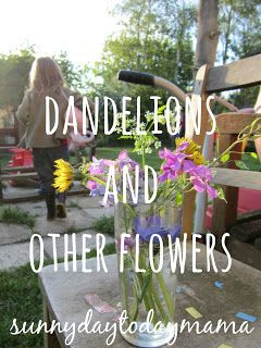 Activities with dandelions and other flowers for nature study with children http://sunnydaytodaymama.blogspot.co.uk/2012/05/dandelions-and-other-flowers.html