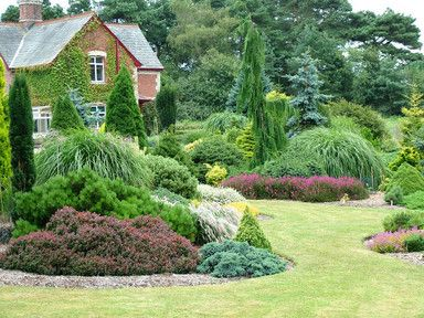 Foxhollow Gardens, UK | 3/4 acre garden with extensive collection of dwarf and ornamental conifers