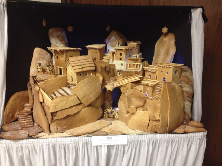#nativity  made of bread and biscuits