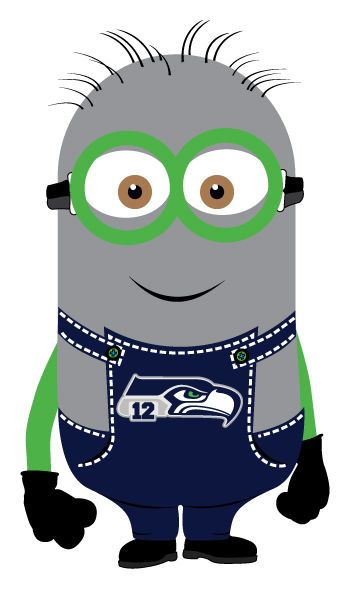 Seattle Seahawks 12th Man MINION Decals Full Color Digital Print Decal/Sticker #SeattleSeahawks12thMan