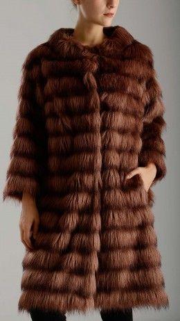 Old pink faux fur jacket