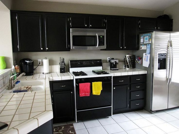 Exceptional Painting Kitchen Cabinets Black Usually Identified That You Have Modern  Contemporary Kitchen Design. Black Kitchen Cabinets Always Look More  Sophisticated ...