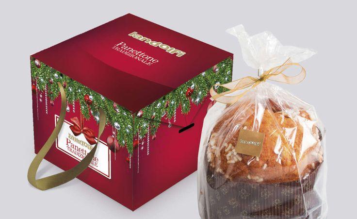 Panettone (Italian Christmas cake) packaging design for Landolfi