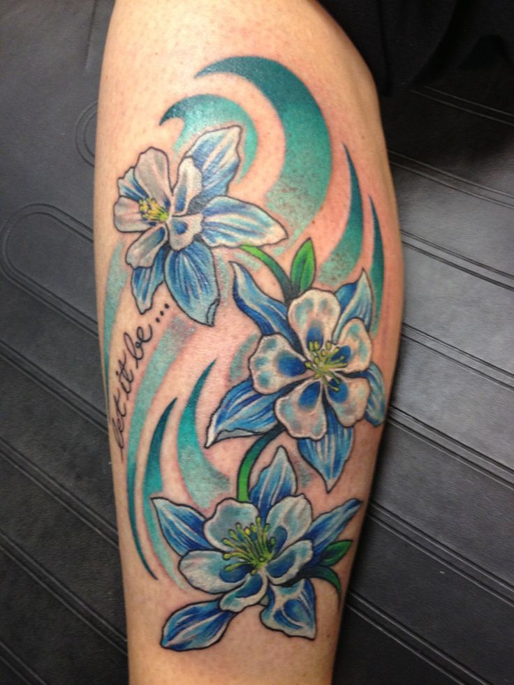Tattoos Pictures Columbine Flower 29