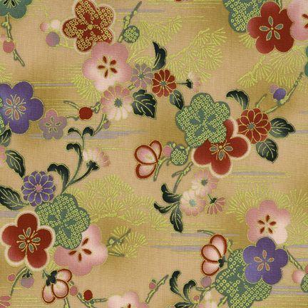 Robert Kaufman Fabrics: HRK-551101L-1 from Hyakkaryouran Sateen