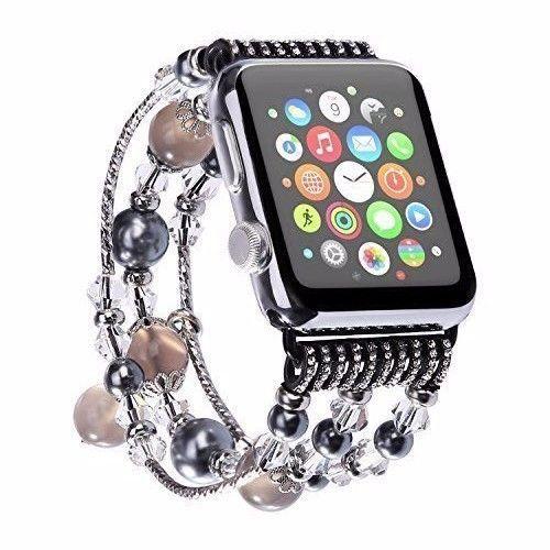 Apple Watch Band 38mm iWatch Series 1 & 2 Bracelet Handmade Pearl & Stone Style #BraceletiWatch